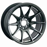 XXR 527 18x8 Rims 5x100/114.3mm +42 Chromium Black Wheel Fits Celica Impreza Wrx