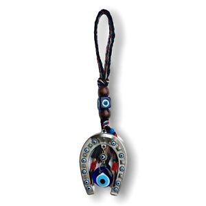 Turkish Evil Eye Wall Hanging with Lucky Horseshoe Protection Home Decoration