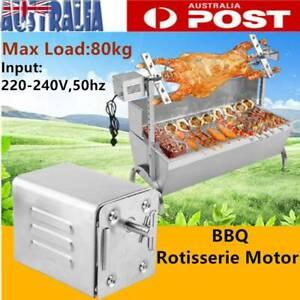 Spit Roaster Rotisserie Electric Motor Stainless Steel 80KG BBQ Spit 240V AU
