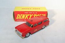 DINKY TOYS 257 NASH RAMBLER CANADIAN FIRE CHIEF'S CAR NEAR  MINT BOXED