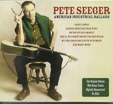 PETE SEEGER AMERICAN INDUSTRIAL BALLADS - 2 CD BOX SET - PEG AND AWL + MORE