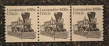 USA1982  #1897a  2c Locomotive 1870s - Plate Number Coil Strip of 3  (#4)  PNC