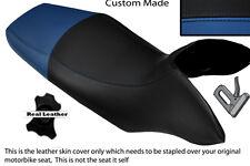 BLACK & ROYAL BLUE CUSTOM FITS HONDA TRANSALP XL 700 V 08-12 DUAL SEAT COVER