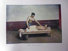 Caucase&Asie centrale/Gravure 19°in folio couleur/Bains a Tifflis,le Massage