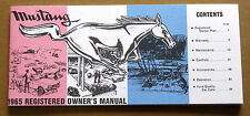 Ford Mustang Owners Manual 1964½ 1964.5 1964 1/2 repro Jim Osborn Reproductions