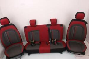 Sitzgarnitur Sitz Rücksitz Fiat Punto 199 1.2 BJ 2012 Schwarz Rot Top Zustand