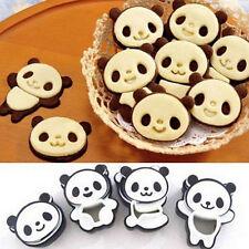 4pcs 3D DIY Panda Rice Sushi Sandwich Cake Cookie Mold Cutter Decor Kit Tools