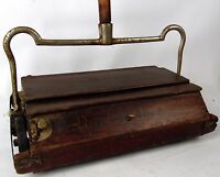 Antique 1890 Bissell Improved Parlor Queen Americana Cherry Maple Sweeper