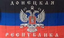 DONEZK Russia  - Russland mit WAPPEN & Schrift Fahne 1,50x0,90m & Ösen Flagge