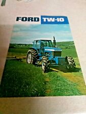 ford tractor  tw10 sales brochure  2 page