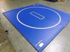 10'x10'x1.25 34; Dollamur Flexi-Roll Wrestling Mat w/Flexi-Connect Royal w/Circle