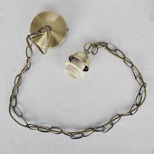 Antique Brass Ceiling Rose  Metal Chain  Gold Flex Pendant Lighting Light Kit