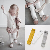 Kids Baby Girls Knee High Long Cotton Warm Tights Socks Stockings Cartoon Rabbit