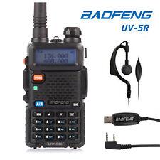 EU Baofeng UV-5R + Cavo USB Vhf Uhf 136-174/400-520Mhz FM DUAL BAND Radio Ham 5W