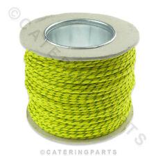100 Mètre Bobine de vert jaune résistant à la chaleur Fil Câble 1.5 mm haute température