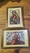 Vintage Hummel Prints Framed Art Madonna and Child
