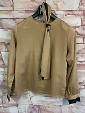 Sarah Taylor Brown/Copper Long Sleeve Blouse. Size: 11.