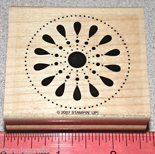 Flower Blossom Circle Design Large Unique Pattern by Stampin Up In the Spotlight