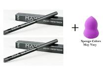 Max Factor MAXeye Liner Eyeliner Smoke Alarm 120 .01 oz (2 Pack) + Makeup Sponge