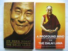 2x THE DALAI LAMA ~ AN OPEN HEART & A PROFOUND MIND ~Edited by NICHOLAS VREELAND