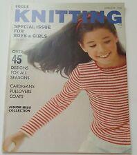 Vintage 1960s Book 1966 VOGUE KNITTING SPECIAL CHILDREN ISSUE 57 Pattern Designs