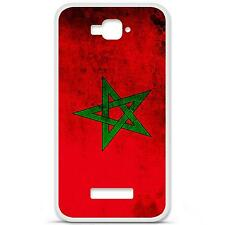 Coque housse étui tpu gel motif drapeau Maroc Alcatel One Touch Pop C7