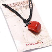 Colgante Jaspe Rojo Talisman Amuleto de La Suerte