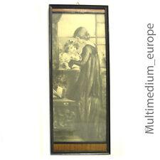 Jugendstil Mutter Kind bild Holz Rahmen Lithographie art nouveau picture frame