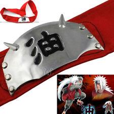 Hot Naruto Jiraiya Headband Cosplay Headband Gama Sennin Japan Anime Red Band