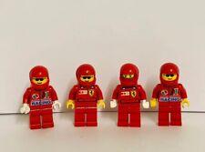 LEGO Car Race Driver  F1 Formual 1 Ferrari Red Minifigures X 4