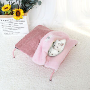 Elevated Pet Cat Bed With Removable Sleeping Bag Cat Hammock Beds House Sofa Mat