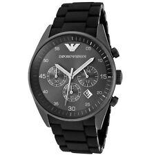 Emporio Armani AR5889 Stainless Steel Black Designer Gents Watch - UK Seller