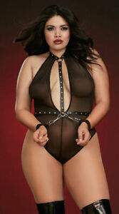One Size Fits Most Queen Womens Plus Size Don't Hold Back Teddy Set