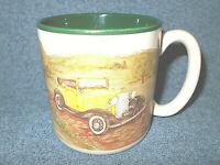 1993 FLOWERS INC. BALLOONS CERAMIC COFFEE CUP MUG ANTIQUE CAR S. TUCK - NICE