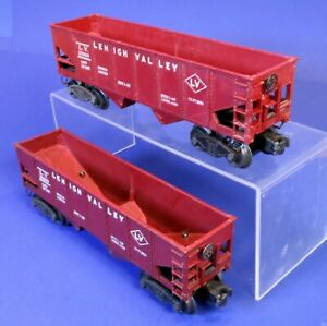 Lot of 2 Lionel O Scale LV Lehigh Valley Hopper Cars 25000