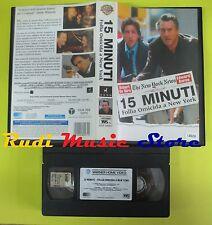 film VHS 15 MINUTI FOLLIA OMICIDA A NEW YORK 2001 WARNER GLI SCUDI (F5**) no dvd