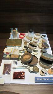 Lot Enamel, Oil stone, Diamantine, Shellac + +, watchmaker