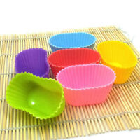 Diy Baking 1pcs Oval Shape Silicone Mould Candy Muffin Cup Cake Tools