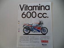 advertising Pubblicità 1989 MOTO YAMAHA FZR 600