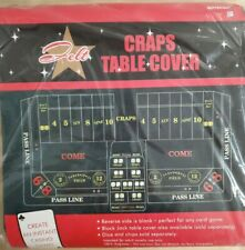 Casino Night Craps Party Table Cover - Green Felt - 3' x 6' - NEW in pkg!