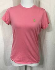 Ralph Lauren Sport Women's  T Shirt Sz S EUC - Pink With Lime Green Pony