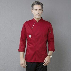 Profession Chef Coat Long Sleeve Cook Jacket Kitchen Hotel Cafe Uniform Workwear