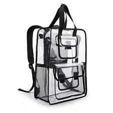 Estarer Clear Backpack Travel Beach Work Security Bag Transparent School Satchel