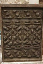 old used Vintage  Hand Carving Wall Hanging Panel with Fine Subject a