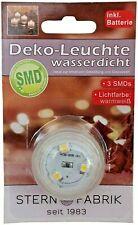 Unterwasserlicht LED Teelicht Batterie 3 SMD Pool Beleuchtung Wasser  warmweiß