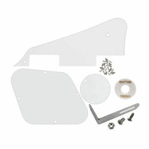 Set Transparent LP Guitar Pickguard Back Cavity Covers with Bracket & Screws