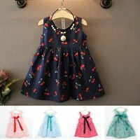 Toddler Girls Summer Princess Dress Kids Baby Party Wedding Sleeveless Dresses