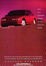 1993 Oldsmobile Cutlass Supreme Original Advertisement Print Art Car Ad J859