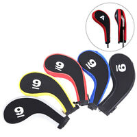 10PCS Golf Club Head Cover Iron Putter Headcover Protect Set Number Printed IY