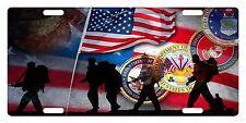 VETERAN SOLDIERS USA FLAG Custom License Plate Military Emblem SEALS Version